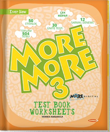 3 NEW MORE & MORE ENGLISH WORKSHEETS & TESTBOOK
